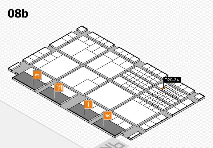 interpack 2017 Hallenplan (Halle 8b): Stand D20-34