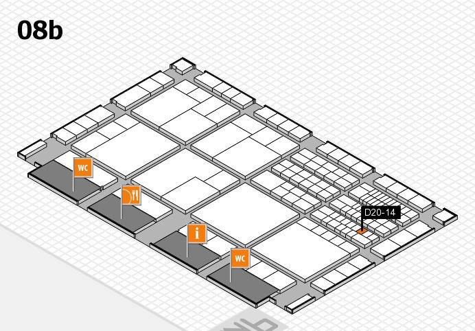 interpack 2017 Hallenplan (Halle 8b): Stand D20-14