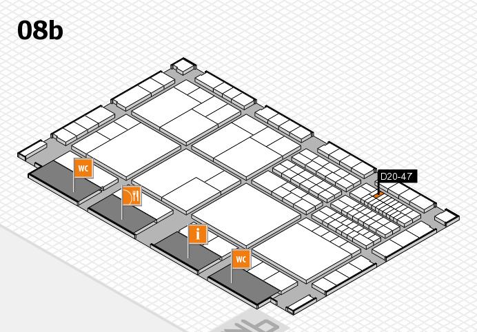 interpack 2017 Hallenplan (Halle 8b): Stand D20-47