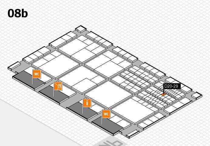 interpack 2017 Hallenplan (Halle 8b): Stand D20-29