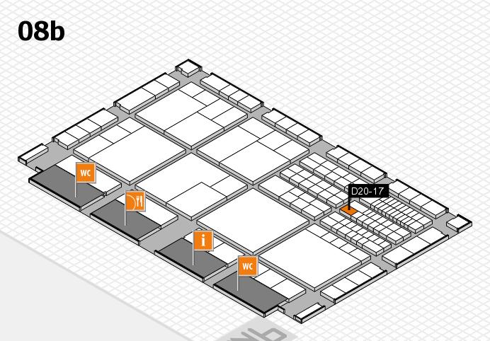 interpack 2017 Hallenplan (Halle 8b): Stand D20-17