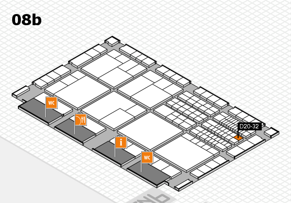 interpack 2017 hall map (Hall 8b): stand D20-32