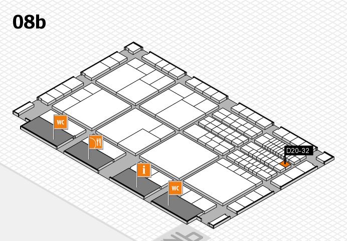 interpack 2017 Hallenplan (Halle 8b): Stand D20-32