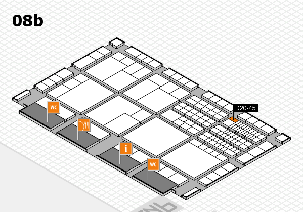 interpack 2017 hall map (Hall 8b): stand D20-45