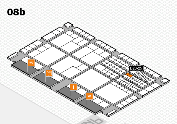interpack 2017 hall map (Hall 8b): stand D20-25