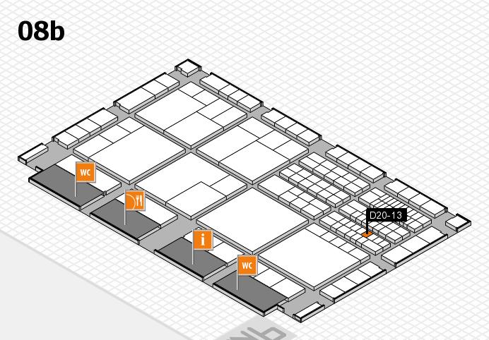 interpack 2017 Hallenplan (Halle 8b): Stand D20-13