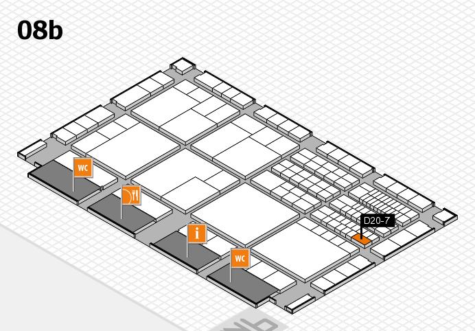 interpack 2017 Hallenplan (Halle 8b): Stand D20-7