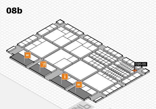 interpack 2017 hall map (Hall 8b): stand D20-55