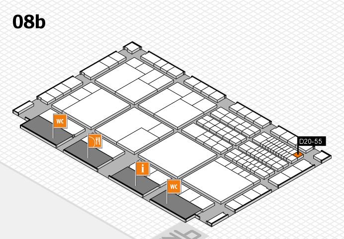 interpack 2017 Hallenplan (Halle 8b): Stand D20-55