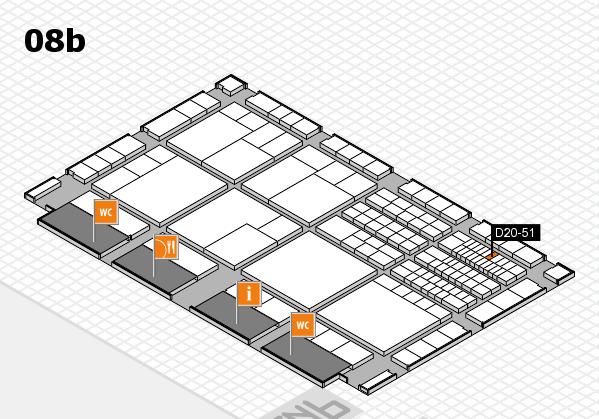 interpack 2017 Hallenplan (Halle 8b): Stand D20-51