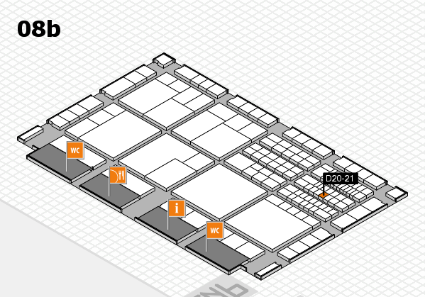 interpack 2017 hall map (Hall 8b): stand D20-21