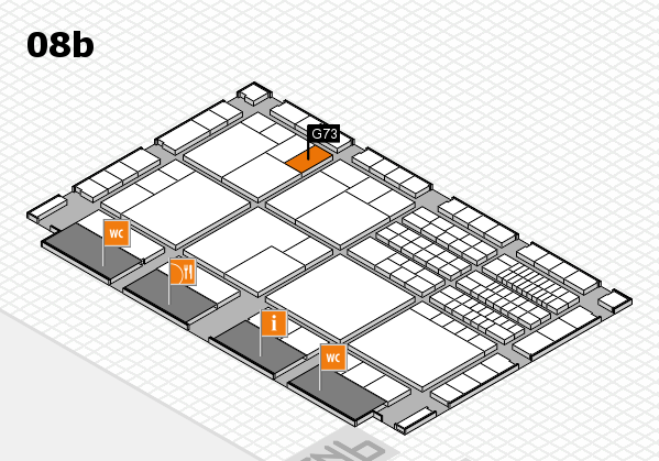 interpack 2017 hall map (Hall 8b): stand G73