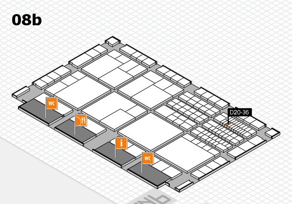 interpack 2017 hall map (Hall 8b): stand D20-36