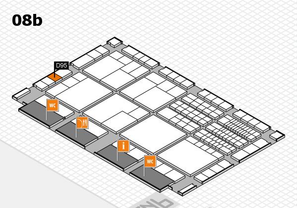 interpack 2017 Hallenplan (Halle 8b): Stand D95