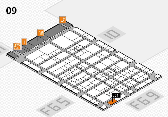 interpack 2017 Hallenplan (Halle 9): Stand J04