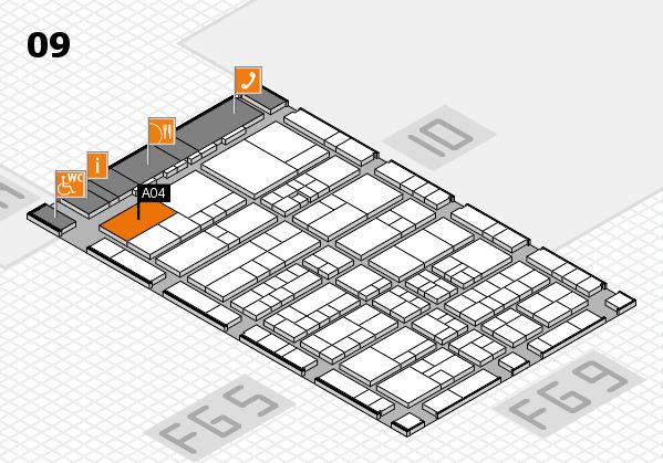 interpack 2017 Hallenplan (Halle 9): Stand A04
