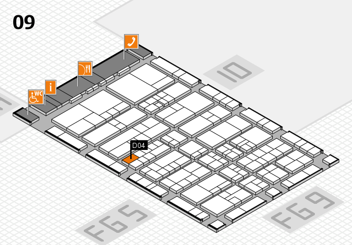 interpack 2017 hall map (Hall 9): stand D04