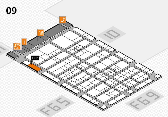 interpack 2017 Hallenplan (Halle 9): Stand C01
