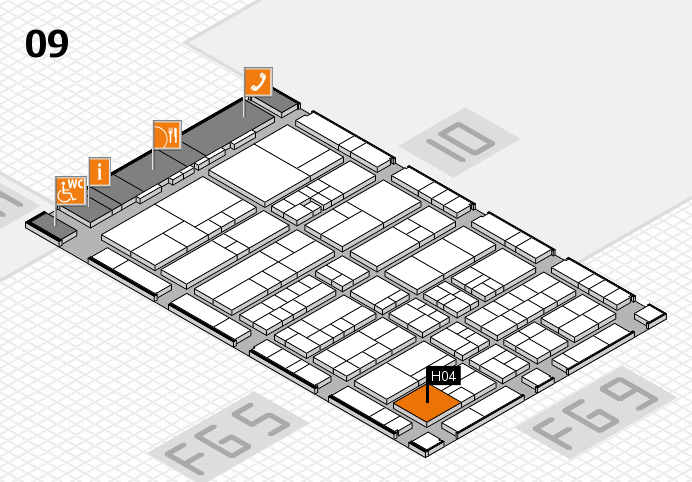 interpack 2017 Hallenplan (Halle 9): Stand H04.J03