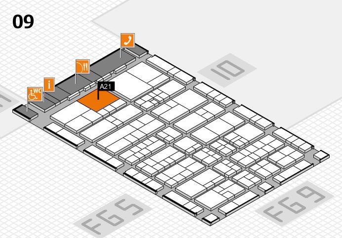 interpack 2017 Hallenplan (Halle 9): Stand A21