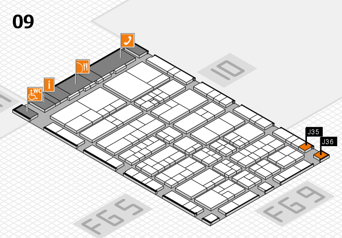 interpack 2017 hall map (Hall 9): stand J35, stand J36