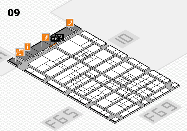 interpack 2017 hall map (Hall 9): stand A19, stand A23