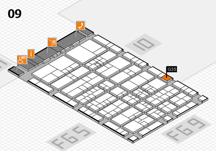 interpack 2017 hall map (Hall 9): stand G35