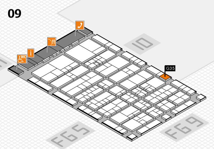 interpack 2017 Hallenplan (Halle 9): Stand G35