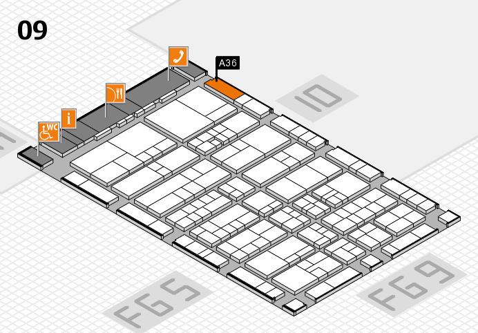 interpack 2017 Hallenplan (Halle 9): Stand A36