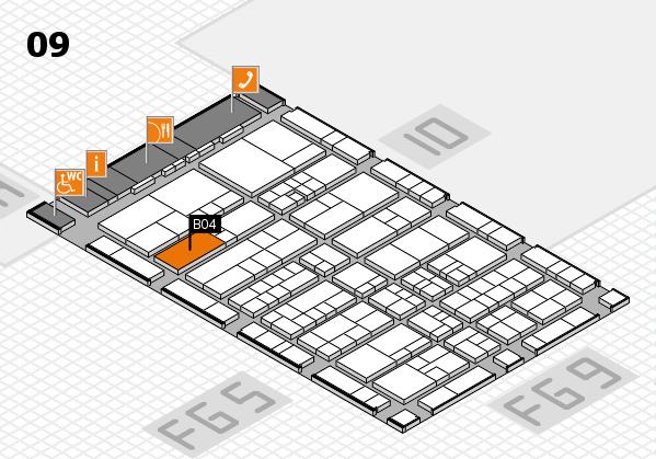 interpack 2017 Hallenplan (Halle 9): Stand B04.C03