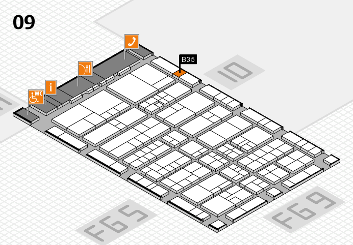 interpack 2017 hall map (Hall 9): stand B35