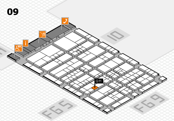interpack 2017 hall map (Hall 9): stand G11