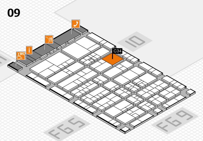 interpack 2017 Hallenplan (Halle 9): Stand C34.D31