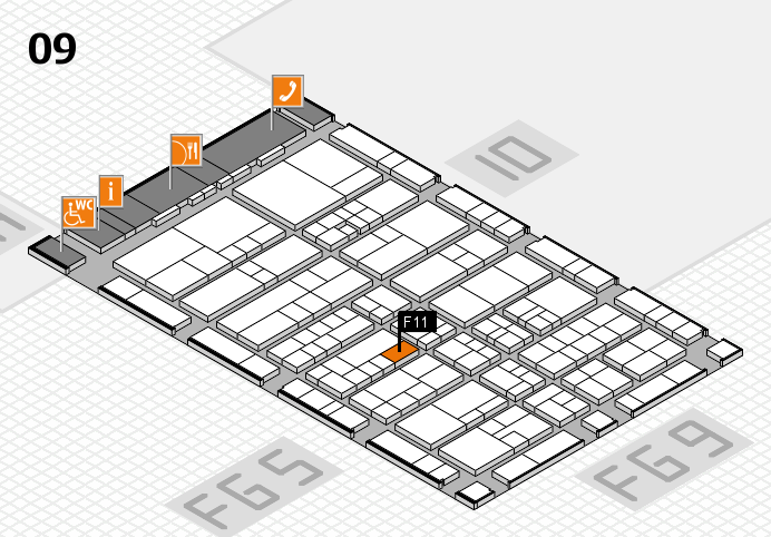 interpack 2017 hall map (Hall 9): stand F11