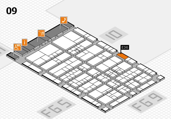 interpack 2017 Hallenplan (Halle 9): Stand E36