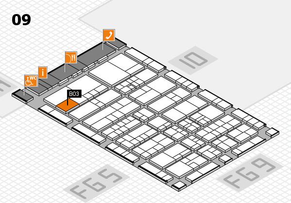 interpack 2017 Hallenplan (Halle 9): Stand B03