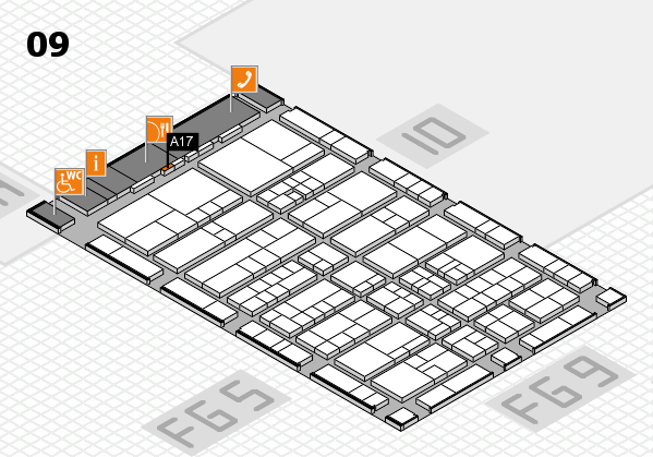 interpack 2017 hall map (Hall 9): stand A17