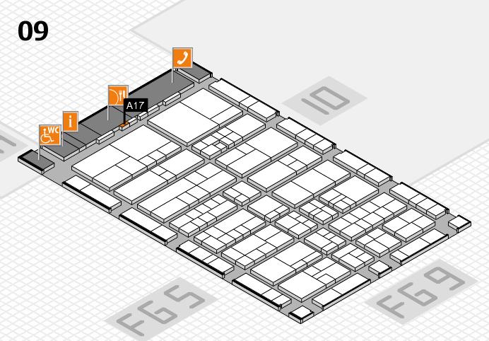 interpack 2017 Hallenplan (Halle 9): Stand A17