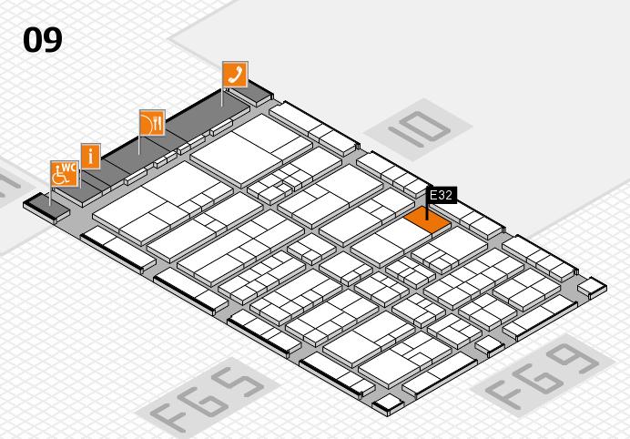 interpack 2017 Hallenplan (Halle 9): Stand E32