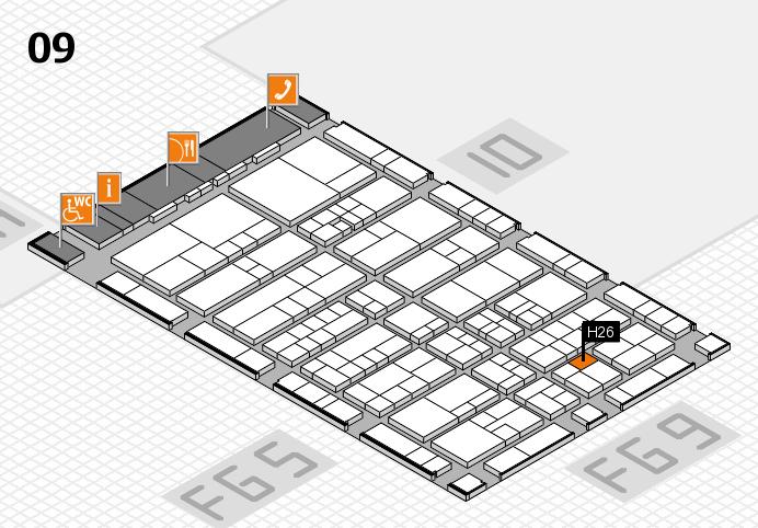 interpack 2017 Hallenplan (Halle 9): Stand H26
