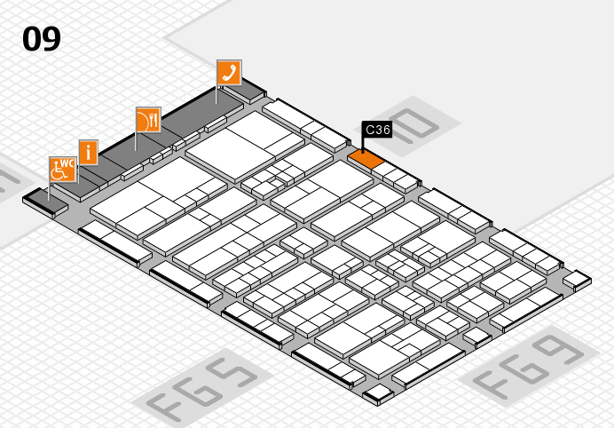 interpack 2017 hall map (Hall 9): stand C36