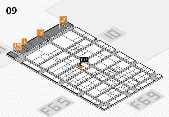 interpack 2017 Hallenplan (Halle 9): Stand D18