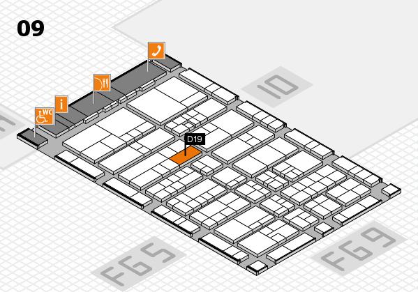 interpack 2017 Hallenplan (Halle 9): Stand D19