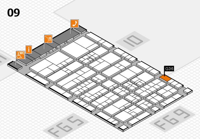 interpack 2017 Hallenplan (Halle 9): Stand G36