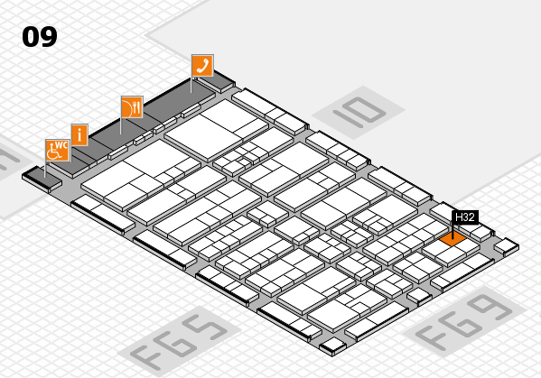 interpack 2017 hall map (Hall 9): stand H32