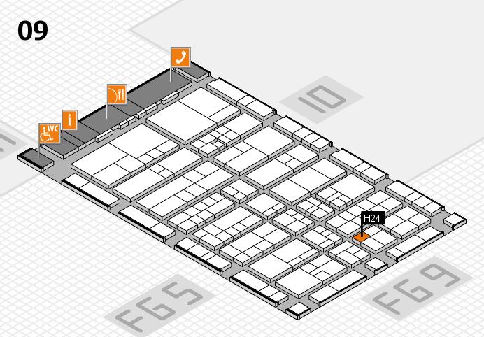 interpack 2017 Hallenplan (Halle 9): Stand H24