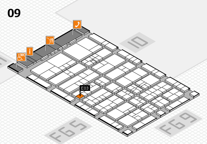 interpack 2017 hall map (Hall 9): stand E03