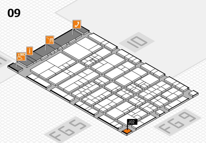interpack 2017 Hallenplan (Halle 9): Stand J02
