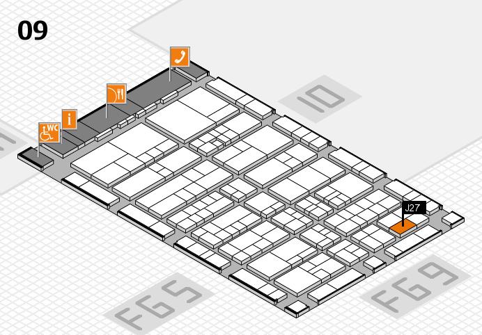interpack 2017 Hallenplan (Halle 9): Stand J27