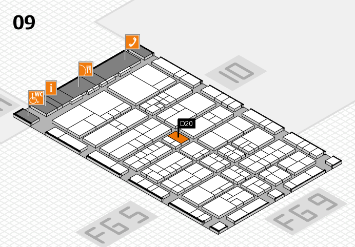 interpack 2017 Hallenplan (Halle 9): Stand D20